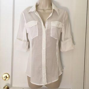 NWT White Button Down Light Cotton Shirt
